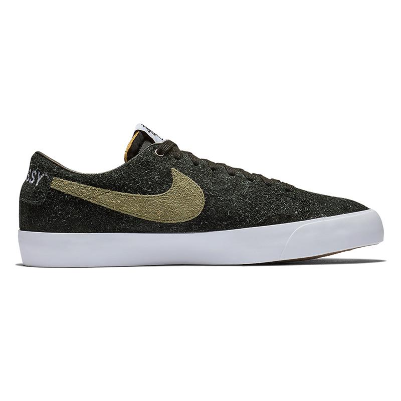 Nike SB x Stussy Blazer Low Black/Palm Green