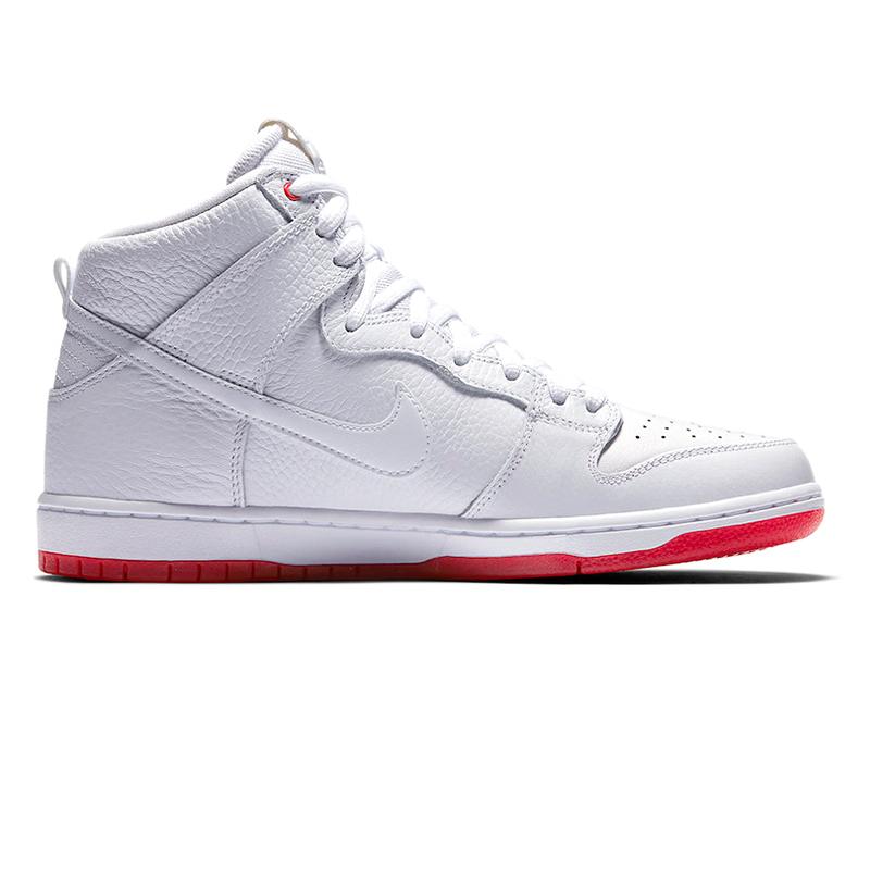 Nike SB Zoom Dunk High White/White/University Red