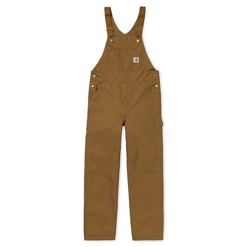 Carhartt Bib Overall Pants Hamilton Brown Rinsed