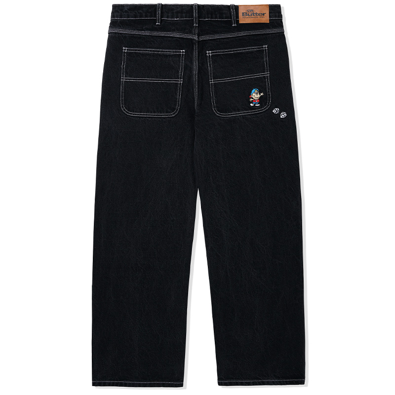 Butter Goods Dice Denim Pants Relaxed Washed Black