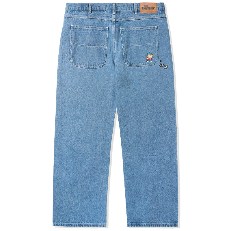 Butter Goods Dice Denim Pants Relaxed Washed Indigo
