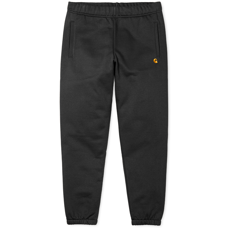 Carhartt Chase Sweat Pants Black/Gold