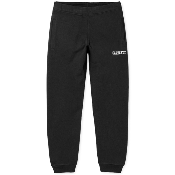 Carhartt College Sweat Pants Black/White