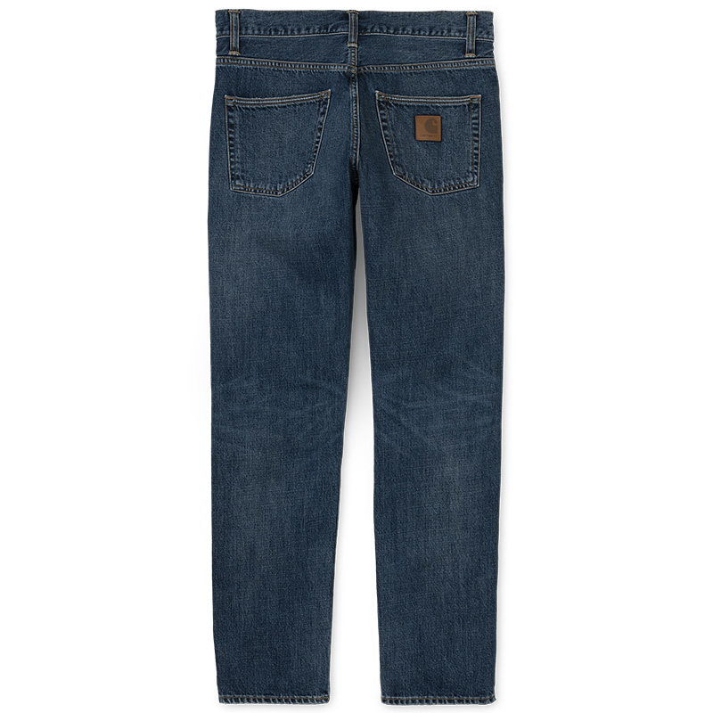 Carhartt WIP Klondike Pants Blue Mid Worn Wash