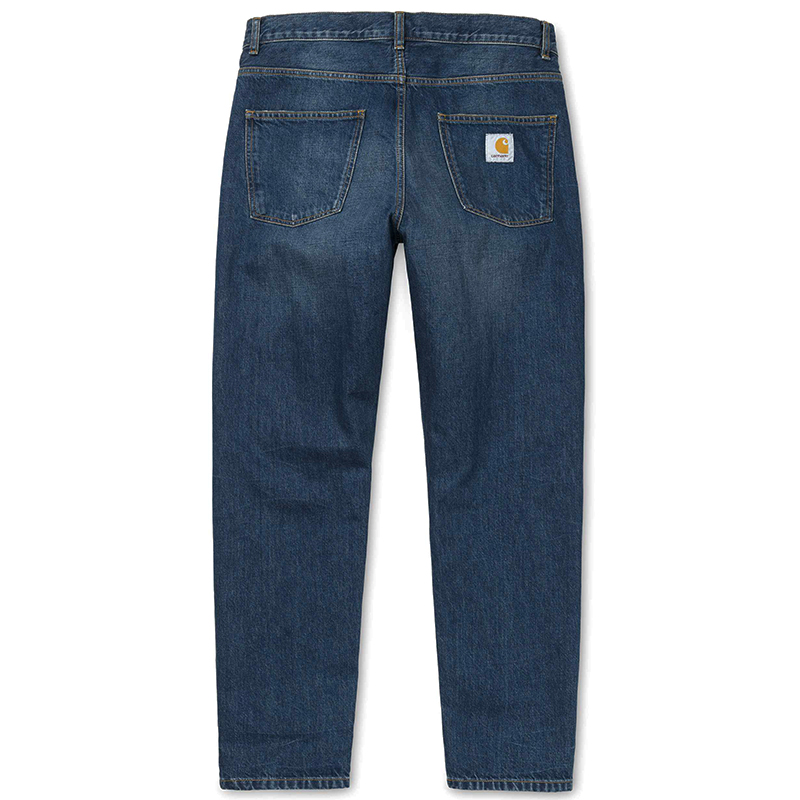 Carhartt Newel Pants Blue Dark Shore Washed