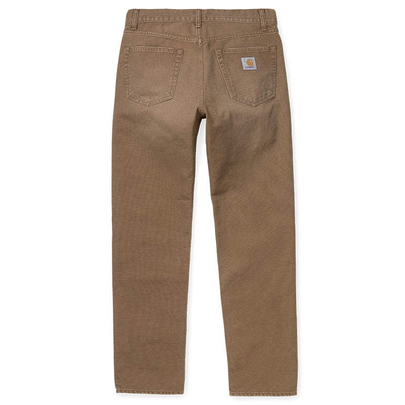 Carhartt WIP Pontiac Pants Hamilton Brown Aged Canvas