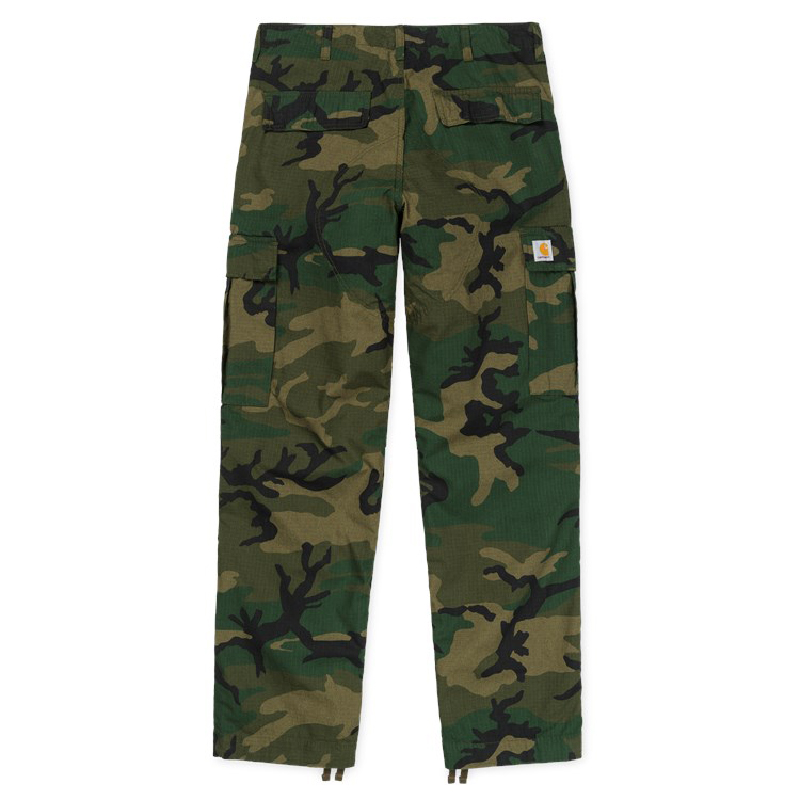 Carhartt Regular Cargo Pants Camo Combat Green Rinsed
