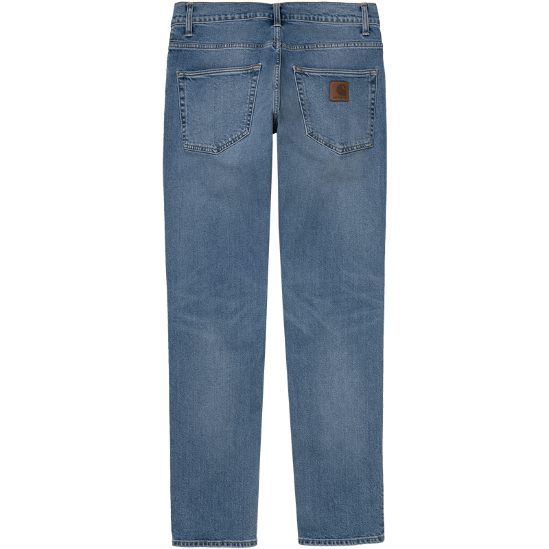 Carhartt WIP Klondike Pants Stretch Blue Worn Bleached