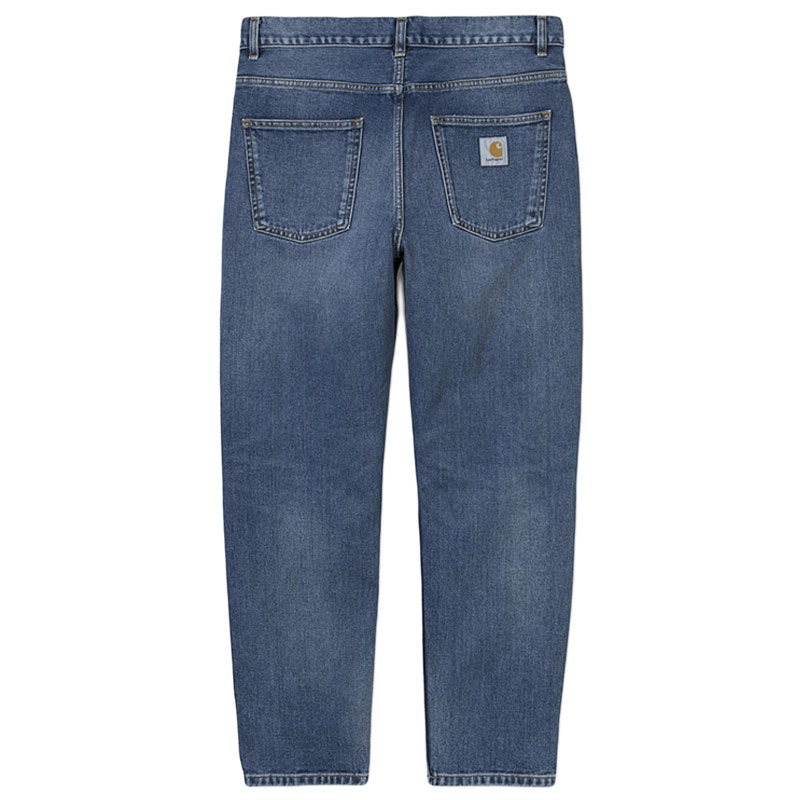 Carhartt WIP Newel Pants Blue Mid Worn Wash