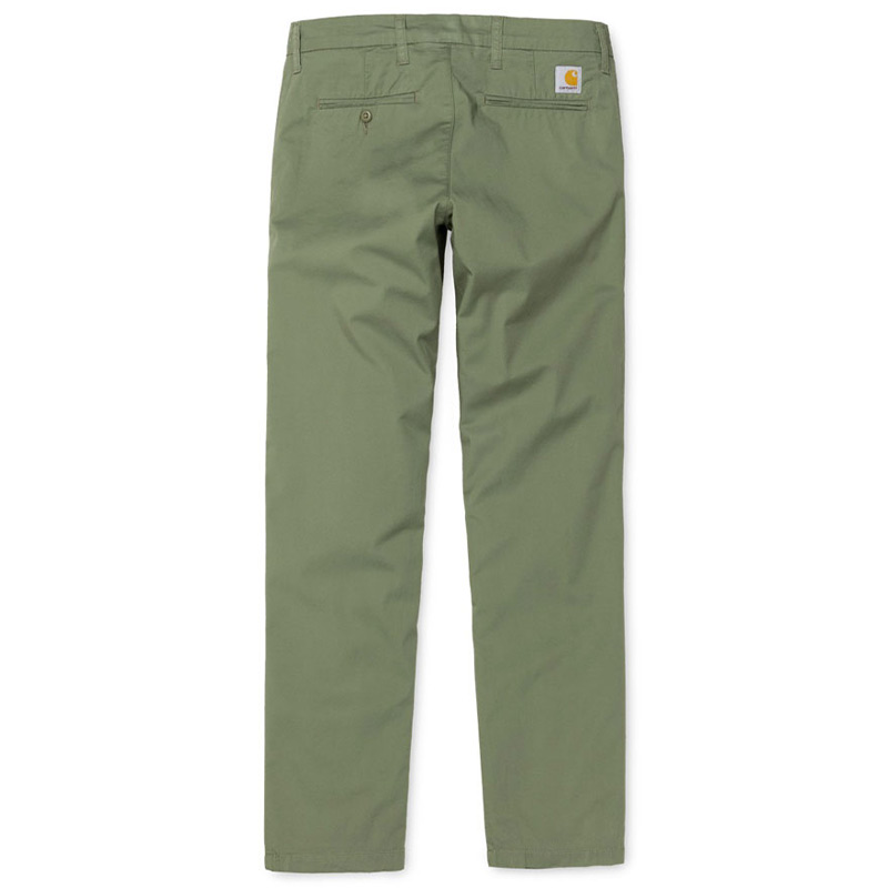 Carhartt WIP Sid Pants Dollar Green Rinsed