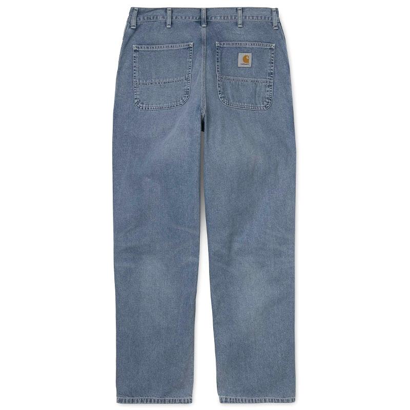 Carhartt WIP Simple Pants Blue Worn Bleached