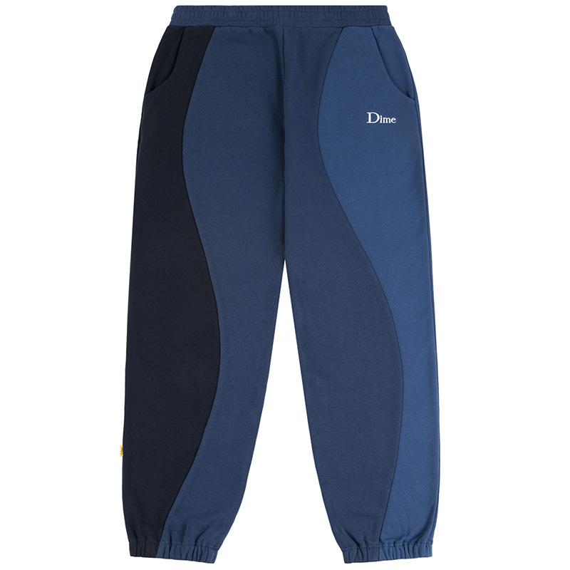 Dime Wavy 3-Tone Crew Sweatpants Blue
