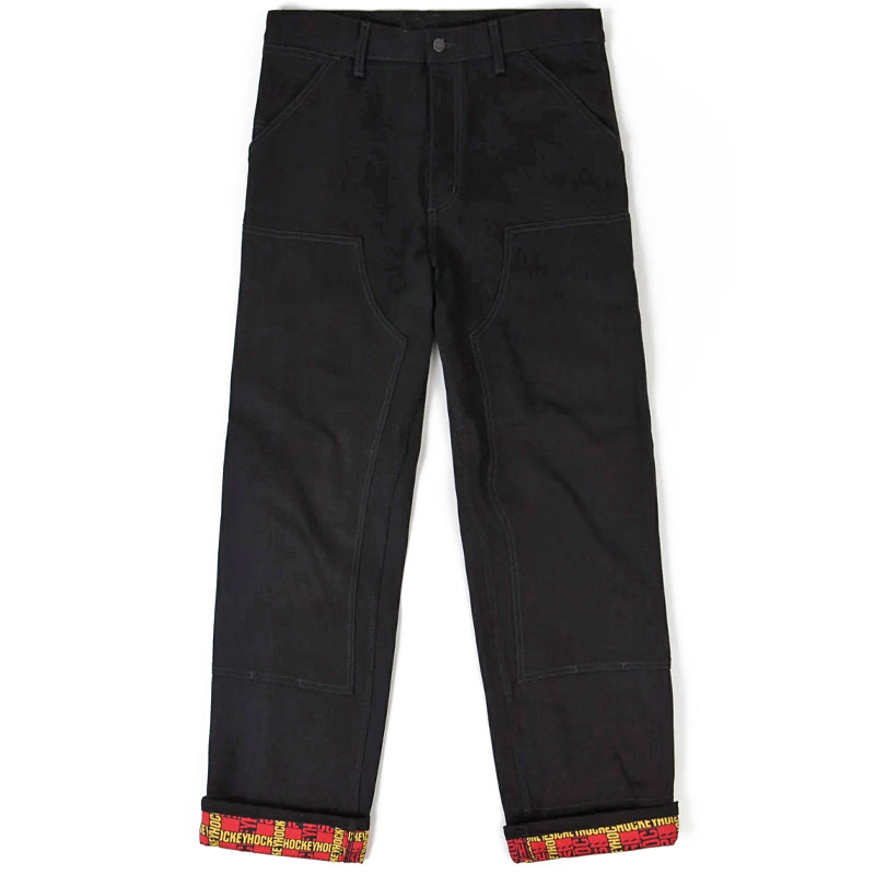 Hockey X Carhartt WIP Double Knee Denim Pants Black