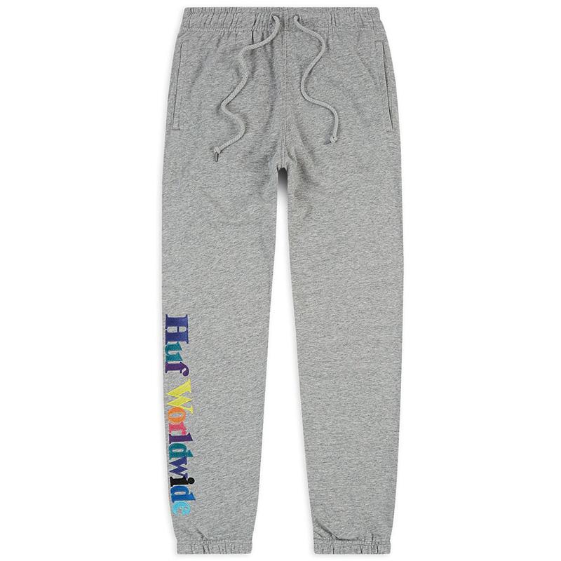 HUF Issue Fleece Pants Grey Heather