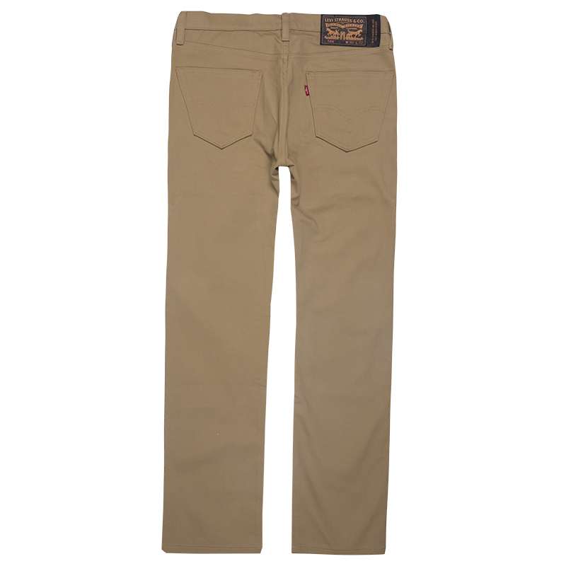 Levi's 504 Straight 5 Pocket Pants Harvest Gold Bull Denim