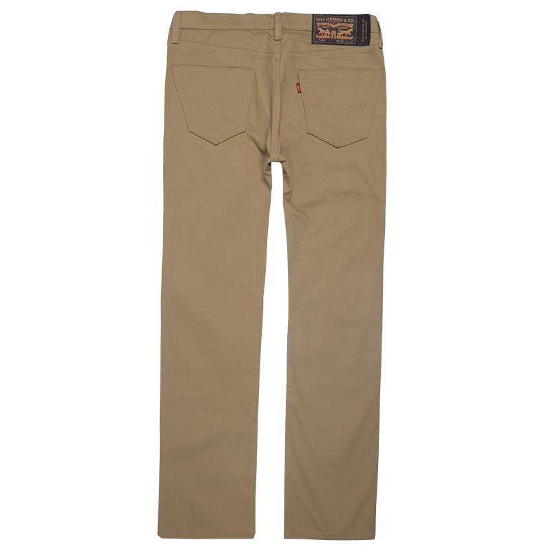 Levi's 504 Straight 5 Pocket Pants Harvest Gold Bull Denim