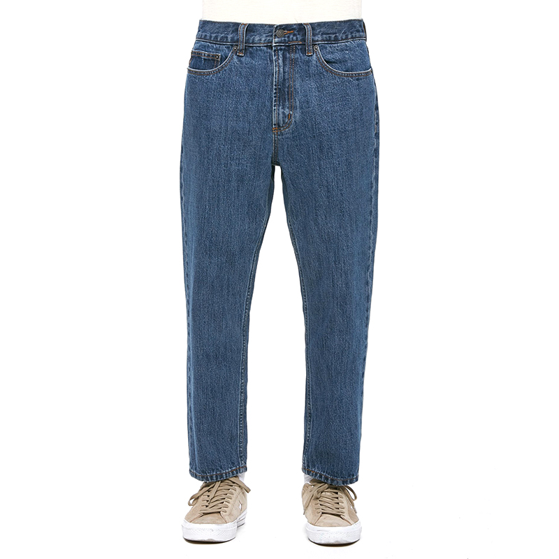 Obey Bender 90'S Denim Pants Stone Wash Indigo