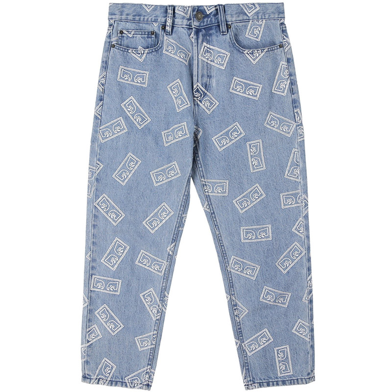 Obey Bender Eyes Denim Pants Light Indigo Multi