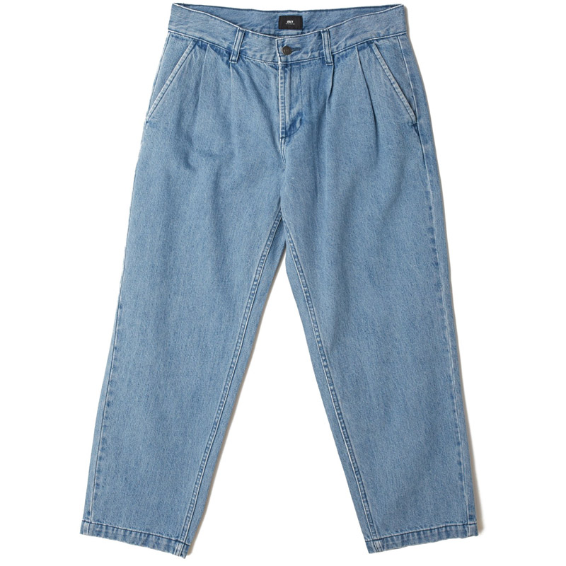 Obey Fubar Pleated Denim Pants Light Indigo