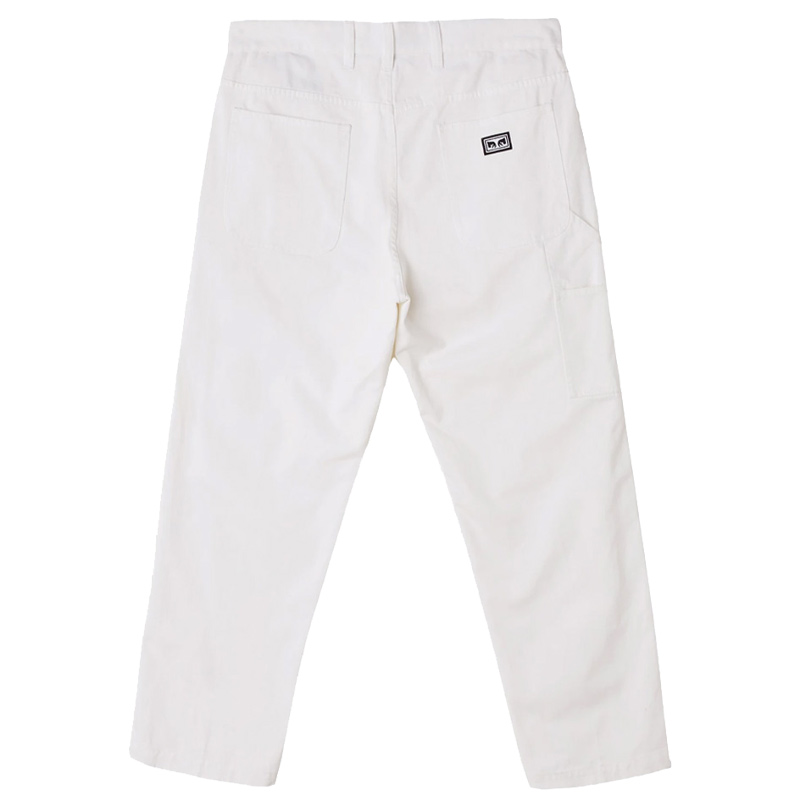 Obey Hardwork Carpenter Pants II White