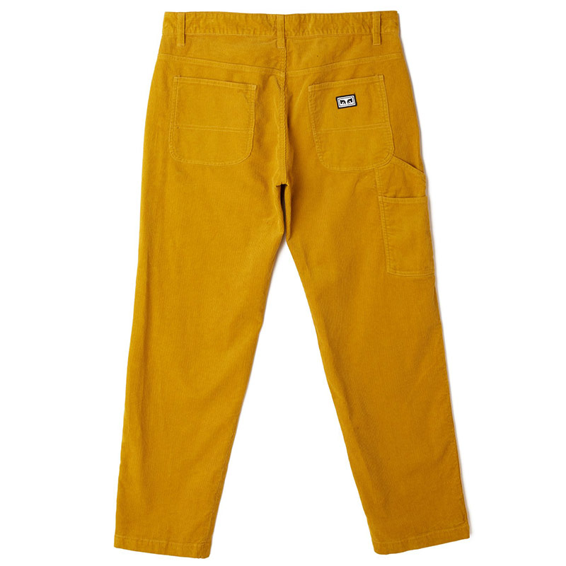 Obey Hardwork Cord Carpenter Pants Golden Palm