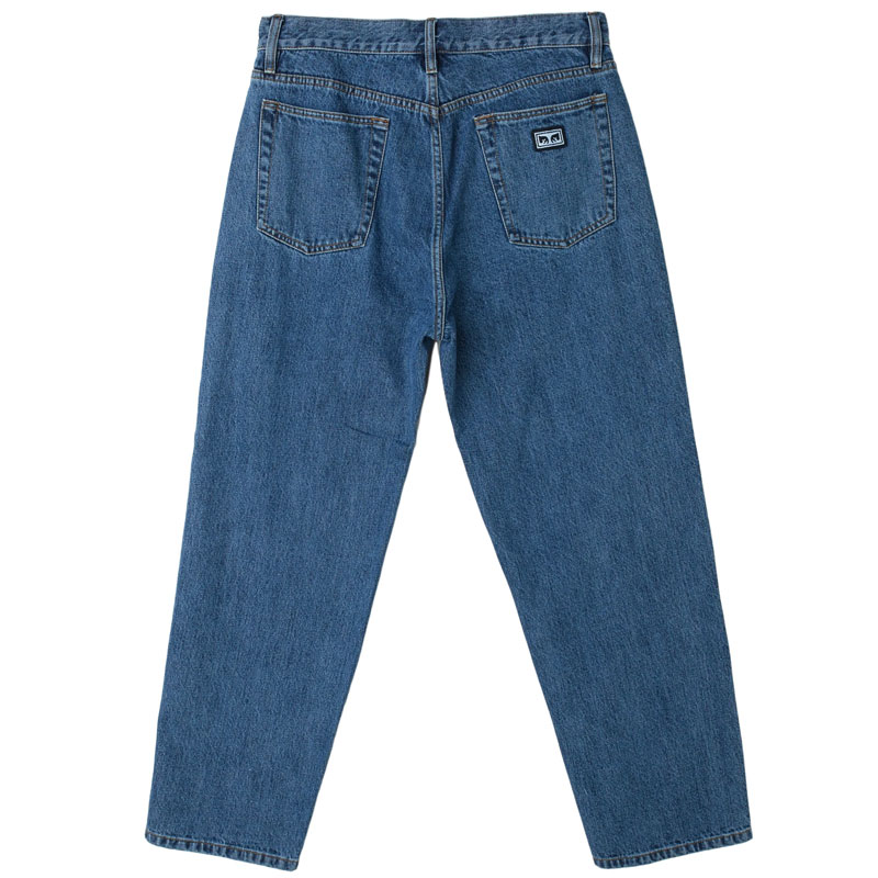 Obey Hardwork Denim Pants Stone Wash Indigo