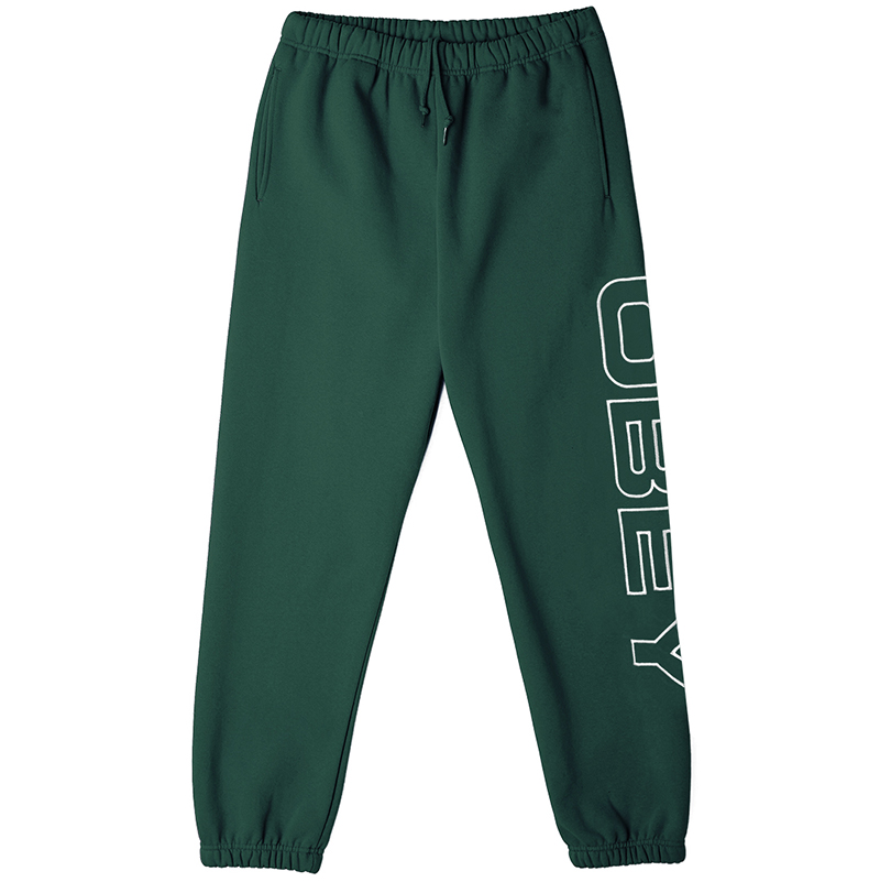 Obey Line Fleece Pants Alpine