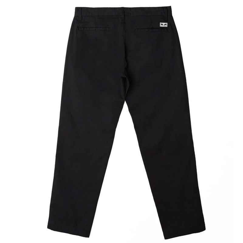 Obey Straggler Flooded Pants Black