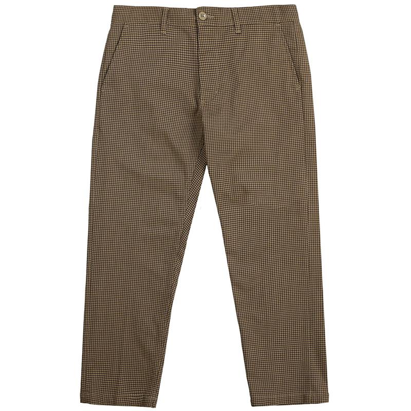 Obey Straggler Houndstooth Pants Khaki Multi