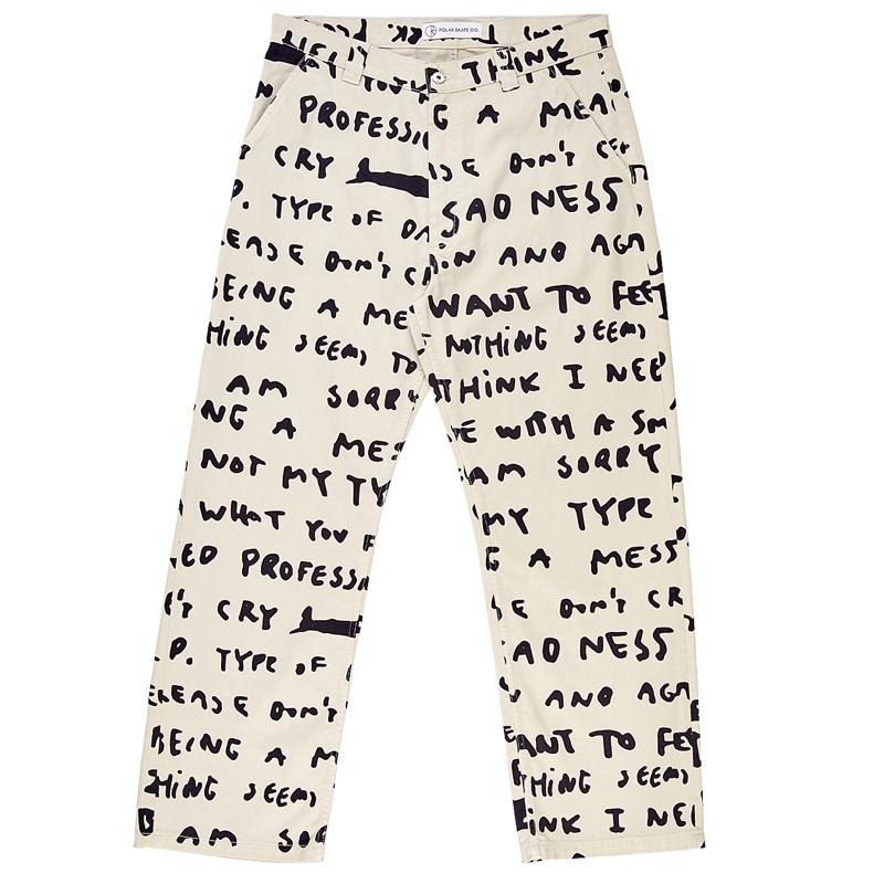 Polar 40's Pants Sad Notes Ivory