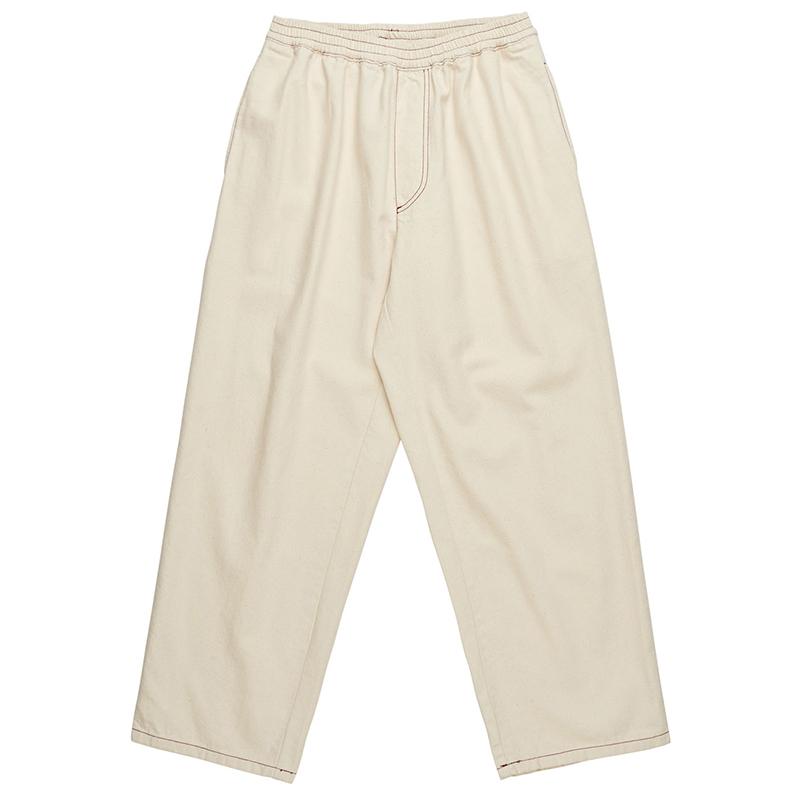 Polar Contrast Karate Pants Ecru/Burgundy