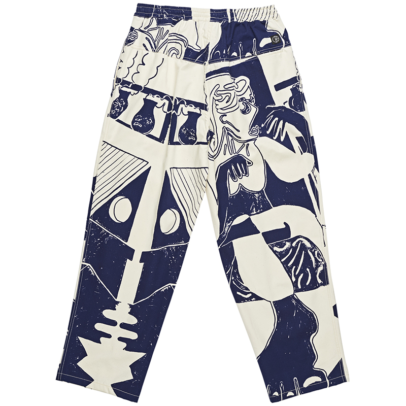 Polar TK Surf Pants Ecru/Navy