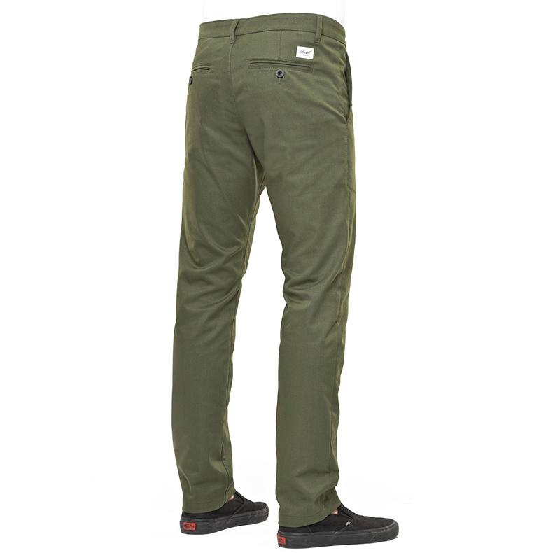 Reell Straight Flex Chino Pants PC Olive