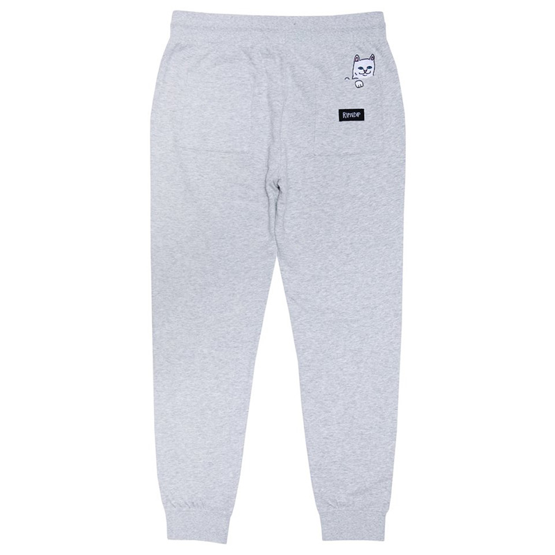 RIPNDIP Peeking Nerm Sweat Pants Heather Grey