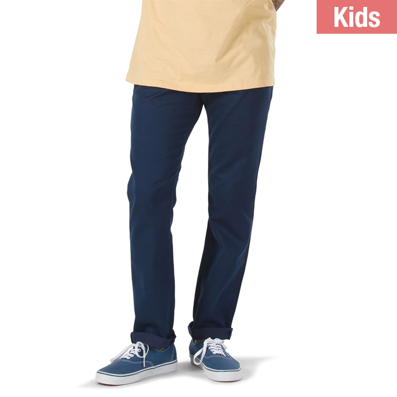 Vans Kids Authentic Chino Stretch Pants Dress Blues
