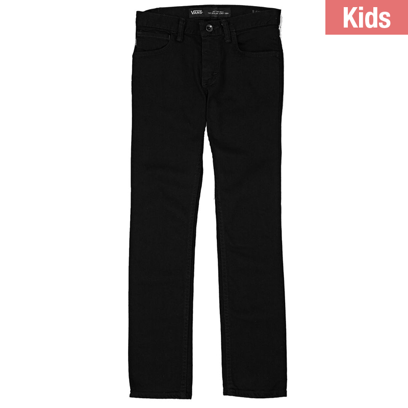 Vans Kids V76 Skinny Pants Overdye Black