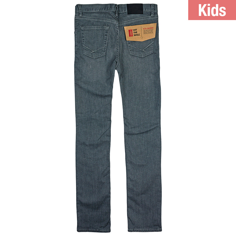 Vans Kids V76 Skinny Pants Worn Grey