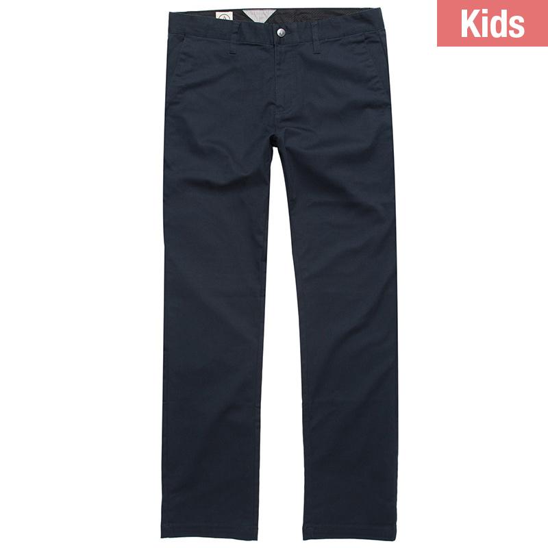 Volcom Kids Frickin Modern Stretch Chino Pants Dark Navy