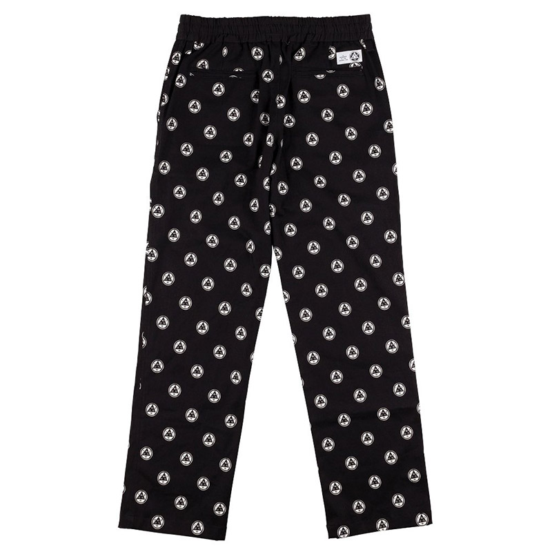 Welcome Tali-Dot All-Over Print Elastic Pants Black/White