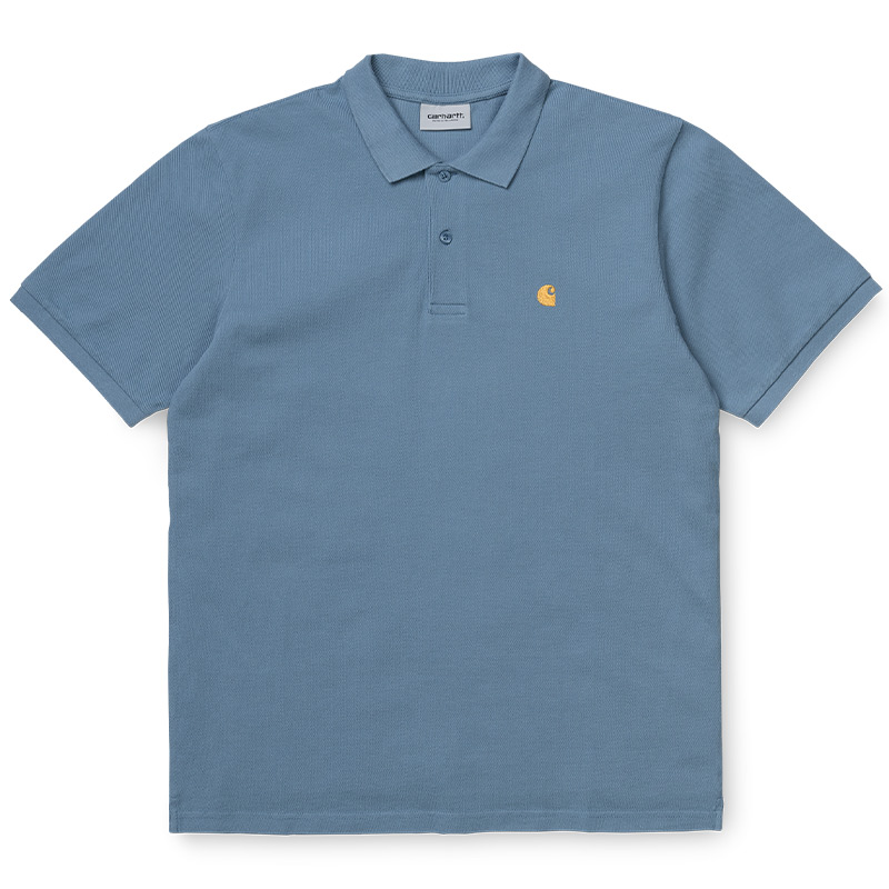 Carhartt WIP Chase Pique Polo Mossa/Gold