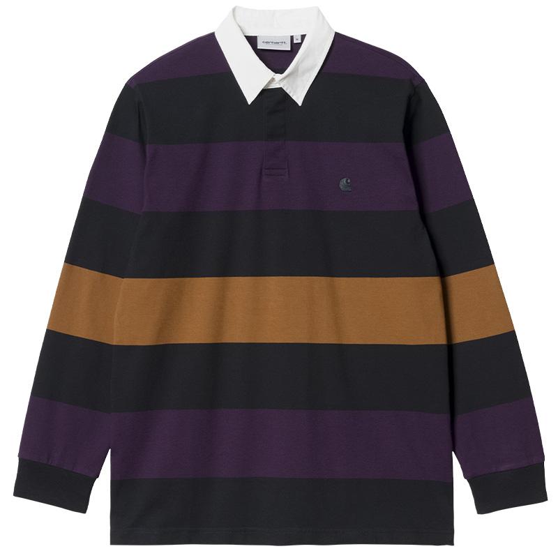 Carhartt WIP Hansen Rugby Polo Hansen Stripe Black/Wax