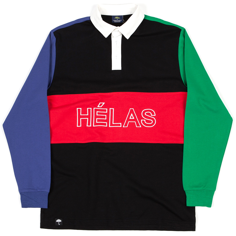 Helas Melemele Rugby Longsleeve Polo Black