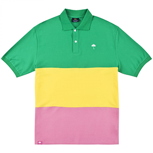 Helas Trio Polo Green/Yellow/Pink