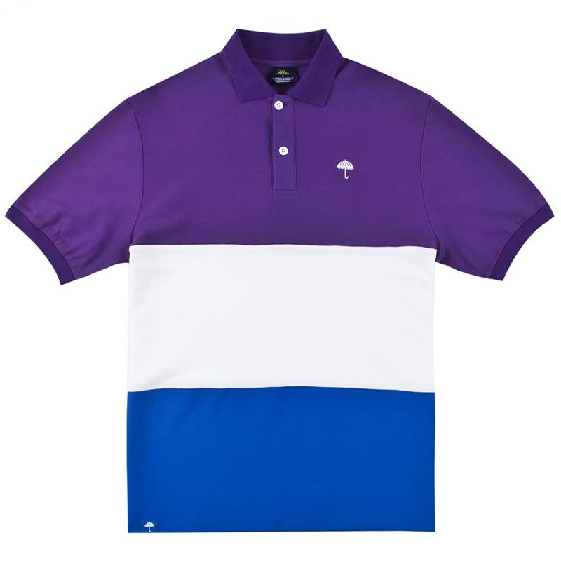 Helas Trio Polo Purple/White/Blue