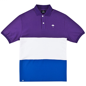 Helas Trio Polo Purple/White/Blue