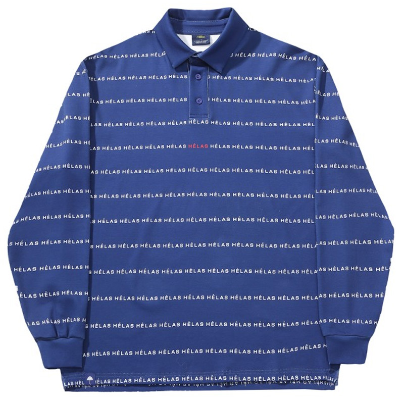Helas Typocal Longsleeve Polo Blue