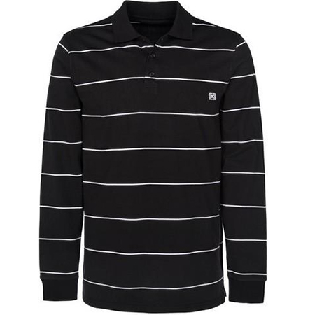 Krew Fred Longsleeve Polo Black