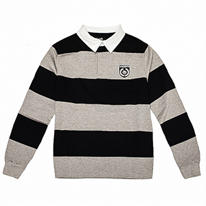 Magenta Rugby Longsleeve Polo Heather Grey