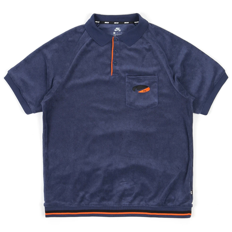 Nike SB Polo Midnight Navy/Team Orange
