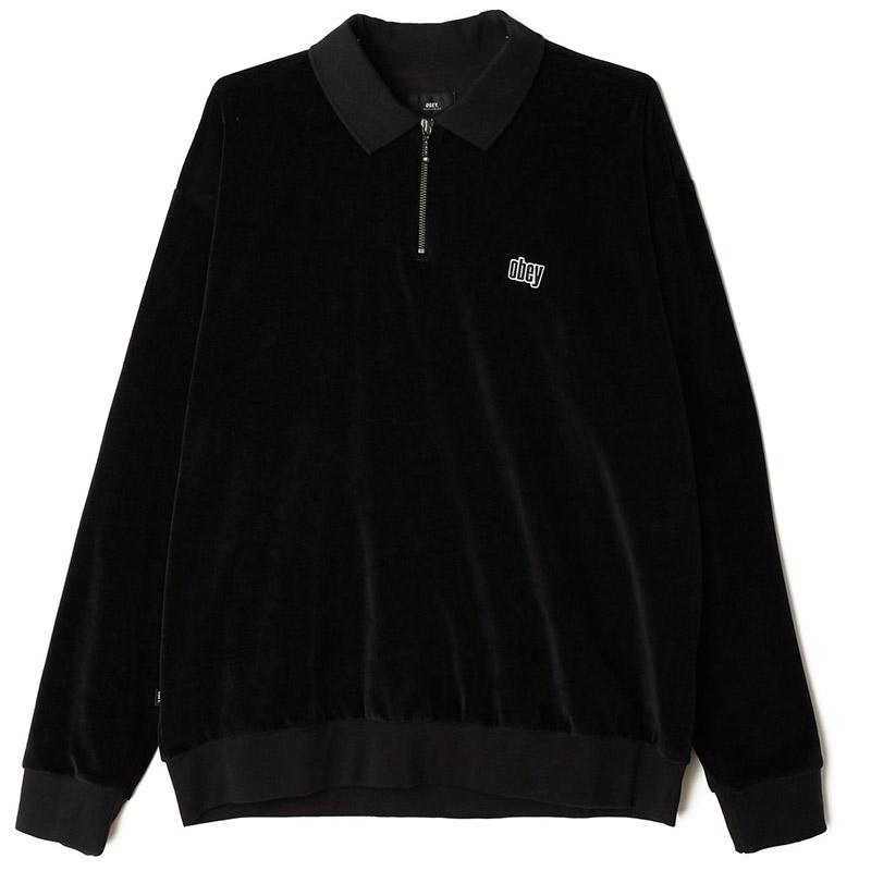 Obey Buster Classic Longsleeve Polo Black